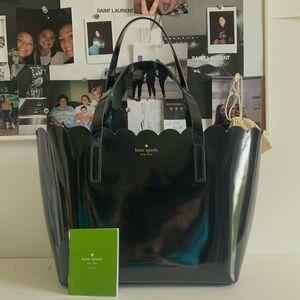 NWOT black scalloped kate spade bag